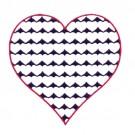 3 Inch Reverse Heart Fill Stitch