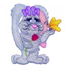 Cute Flower Bunny Free Embroidery Design