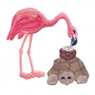 Flamingo And Turtle
