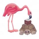 Flamingo And Turtle