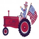 Uncle Sam On Tractor