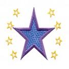 2 Inch Sprinkle Outline Stars