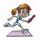 Kid Running Relay Race