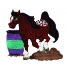 Barrel Racing Pony Embroidery Design