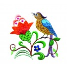 A Birds Paradise Jf302 Embroidery Design