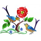 A Birds Paradise Jf306 Embroidery Design