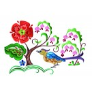 A Birds Paradise Jf309 Embroidery Design