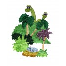 Adorable Brontosaurus Embroidery Design