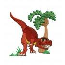 Adorable Tyrannosaurus Rex Embroidery Design