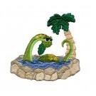 Bathing Brontosaurus Embroidery Design