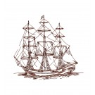 Naut320 Ship Embroidery Design