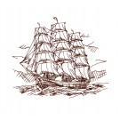 Naut321 Ship  Embroidery Design