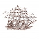 Ship Sketch Free Embroidery Design
