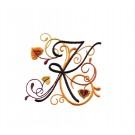 Abc211 Letter K Embroidery Design