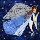 Angel In-the-hoop Christmas Quilt Block