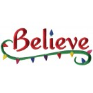 Believe Christmas Embroidery Design