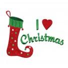 I Love Christmas Christmas Embroidery Design