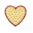 Yellow Polka Dot Heart Folk Art Embroidery Design