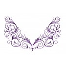 Scrollwork Jeweled Neckline Embroidery Design
