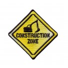 Construction Zone Sign Embroidery Design