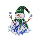 Iridescent Snowmen Embroidery Designs