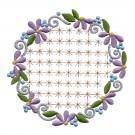 Flowering Eyelet Circle 6 Embroidery Design