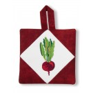 Beet Pot Holder Embroidery Design