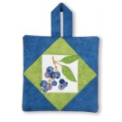 Blueberries Pot Holder Embroidery Design