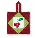 Cherries Pot Holder Embroidery Design