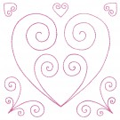 Heart Design 1 Simply Hearts Quilting Designs