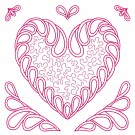 Heart 5 Simply Hearts Quilting Design