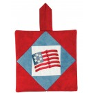 Americana Flag Pot Holder Embroidery Design