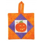 Jack-o'-Lantern Pot Holder Embroidery Design