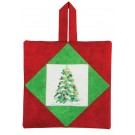 Christmas Tree Pot Holder Embroidery Design