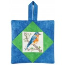 Bluebird Pot Holder Embroidery Design
