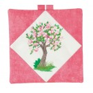 Spring Tree Pot Holder Embroidery Design