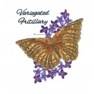 Variegated Fritillary Butterfly Scrapbook Embroidery Design