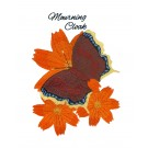 Mourning Cloak Butterfly Scrapbook Embroidery Design