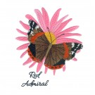 Red Admiral Butterfly Scrapbook Embroidery Design