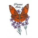 Painted Lady Butterfly Scrapbook Embroidery Design