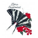 Zebra Swallowtail Butterfly Scrapbook Embroidery Design