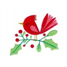 Christmas Bird Merry Little Christmas Embroidery Design