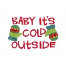 Cold Outside Merry Little Christmas Embroidery Design