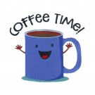Coffee Time Kitchen Quips Embroidery Design