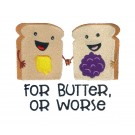 Butter or Worse Kitchen Quips Embroidery Design