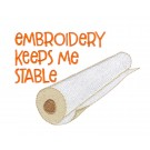 Keep Stable In Stitches Embroidery Design