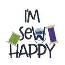 I'm Sew Happy In Stitches Embroidery Design