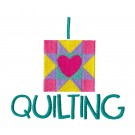 I Love Quilting In Stitches Embroidery Design