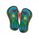 Palm Tree Flip Flops