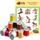 Baby's Playthings I with Madiera 18 Spool Thread Kit